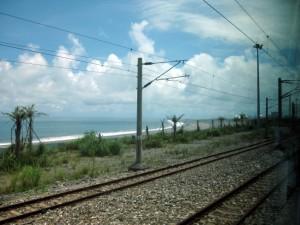 火車行進景色