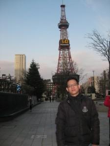 札幌時計台廣告留念