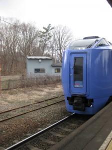 北斗列車駛進大沼公園站