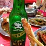 生啤酒配蟹腳